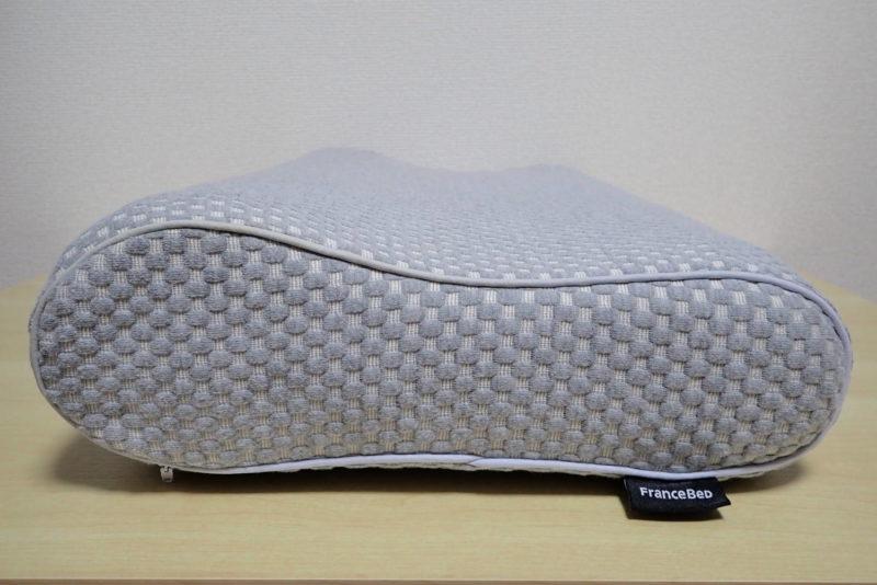 フランスベッドの低反発枕 エアレートピロー コンフォートの高さ