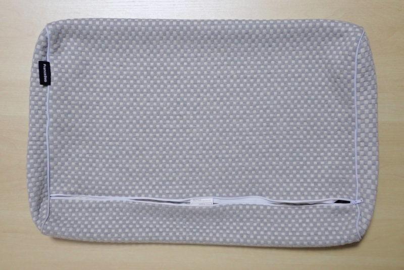 フランスベッドの低反発枕 エアレートピロー コンフォートのカバーは取り外して洗濯可能
