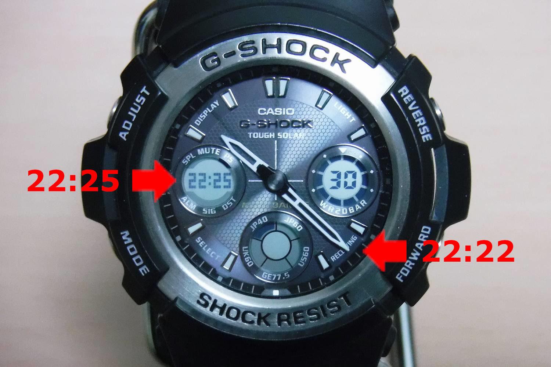 時計 合わせ ショック g