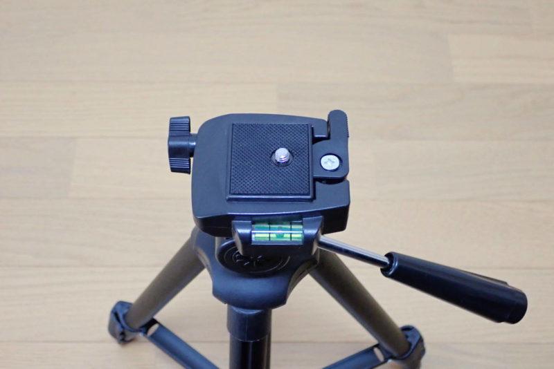 HAKUBA カメラ三脚 W-312 水平器付きの雲台