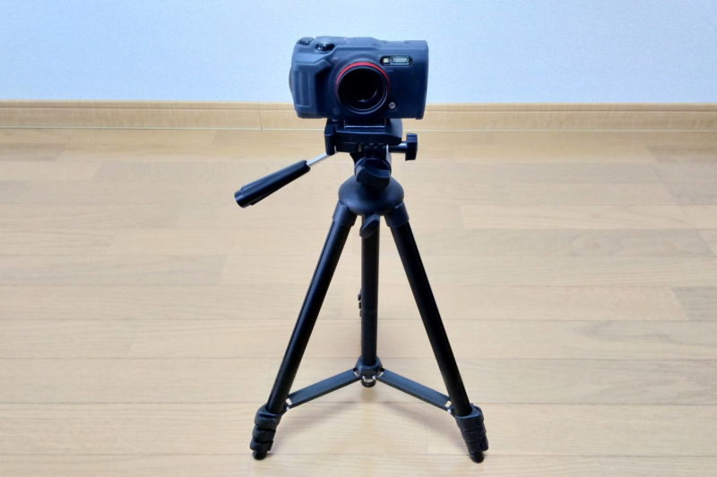 HAKUBA カメラ三脚 W-312 オリンパスの防水デジカメ Tough TG-6を設置