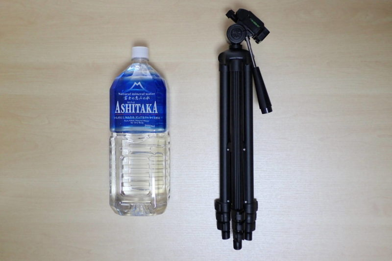 HAKUBA カメラ三脚 W-312 折り畳んだ状態の大きさ