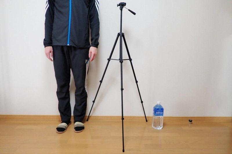 HAKUBA カメラ三脚 W-312 最大伸長時の高さ