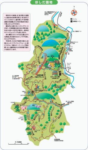 ほしだ園地 マップ