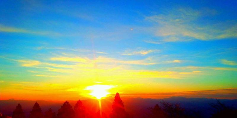 金剛山 初日の出