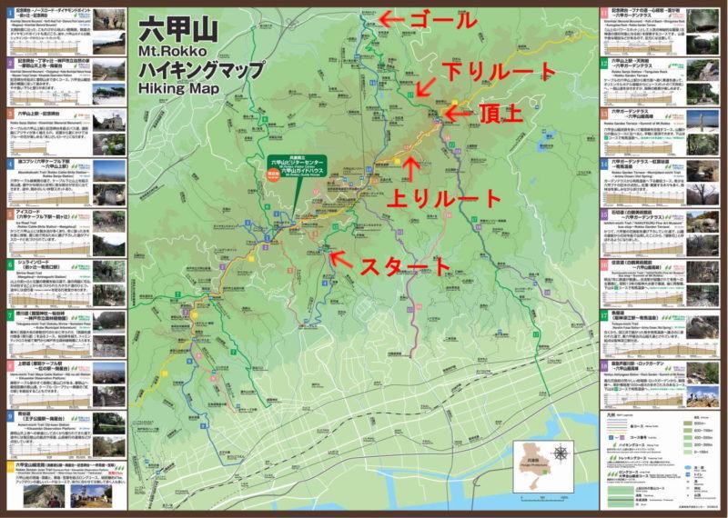 六甲山 登山ルート・ハイキングマップ