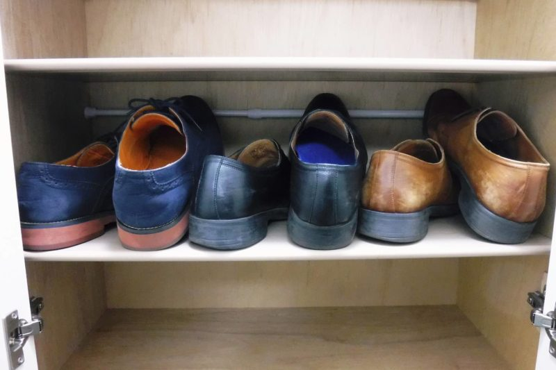 下駄箱 革靴収納